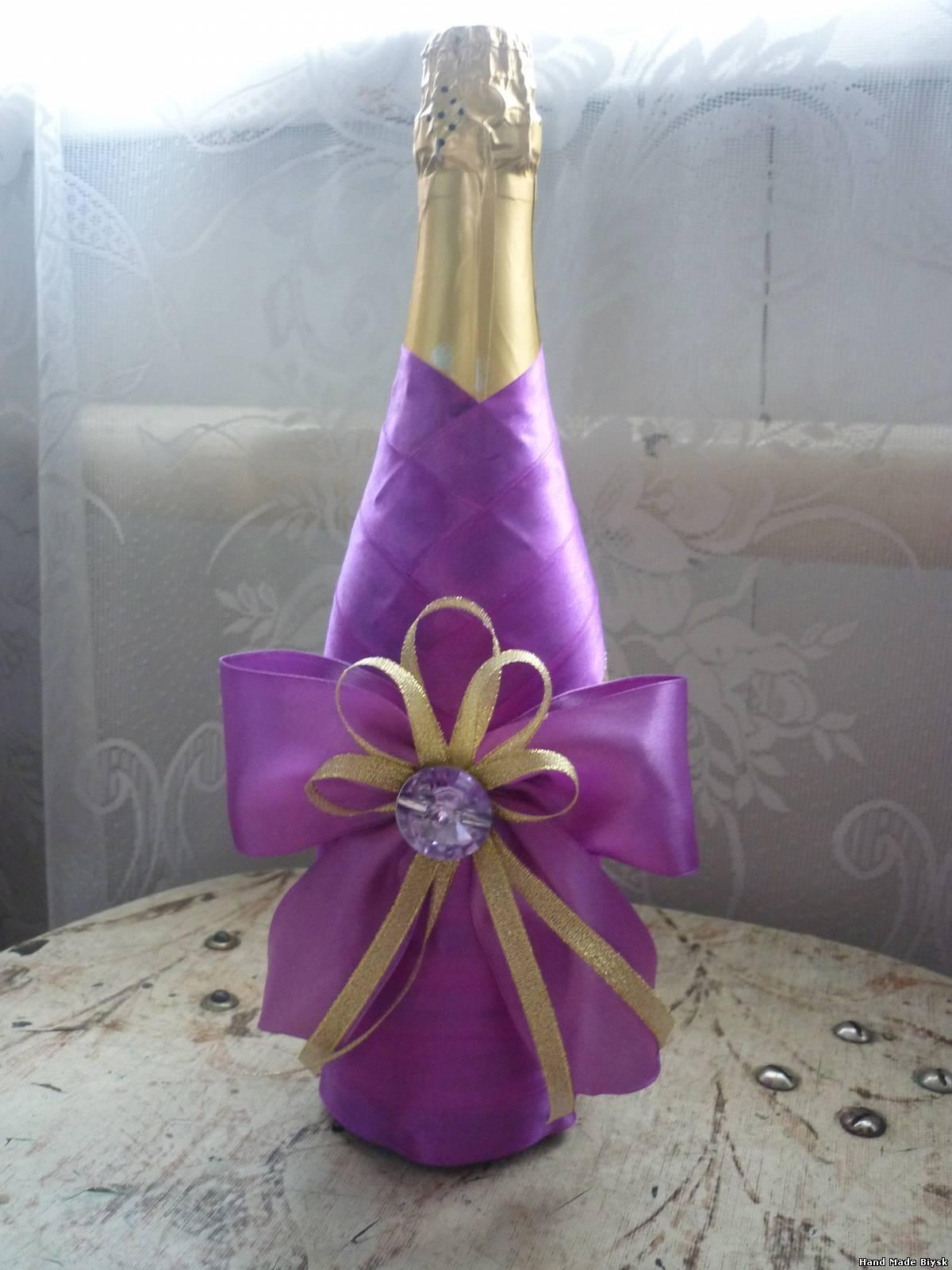 Как украсить бутылку шампанского своими руками фото 6